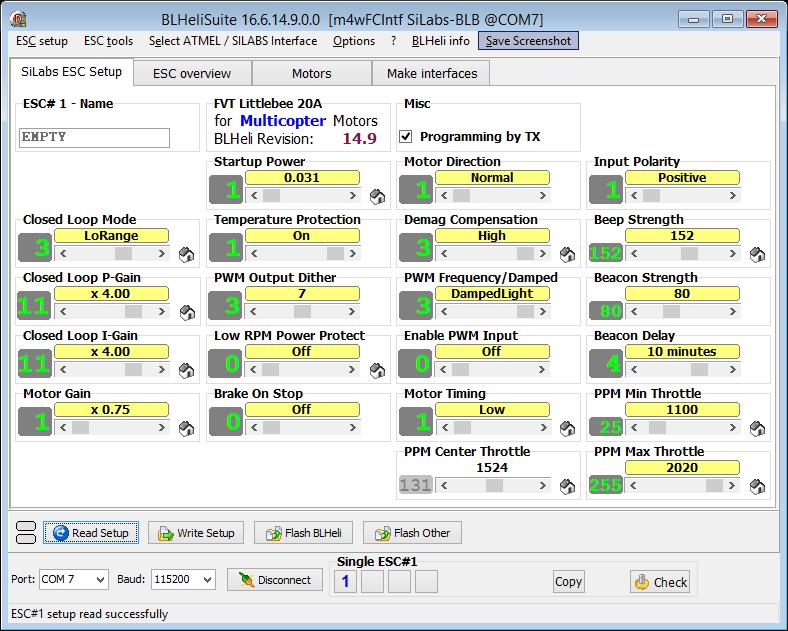 BLHeliSuiteSiLabs ESC Setup_170120_3
